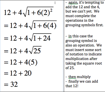 A 3 Order Of Operations Pre Algebra